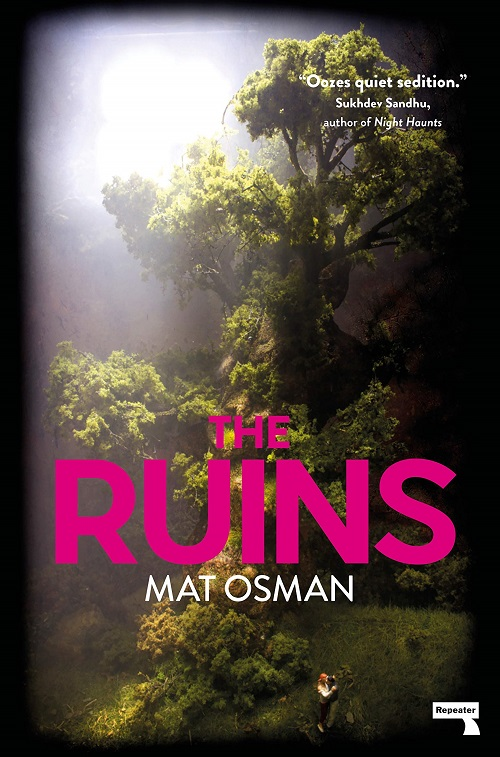Cover image for The Ruins, Mat Osman's debut novel. Clicking it will lead you to the full review on Entropy.